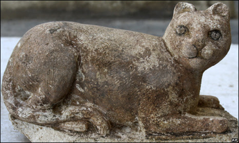 A statue of the cat goddess Bastet