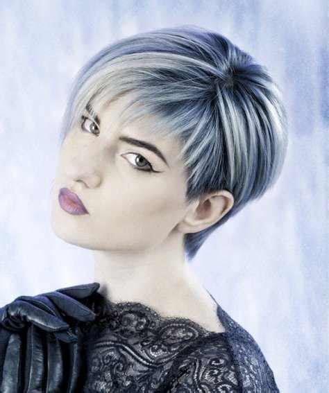 short silver pixie haircut trends   fashiong