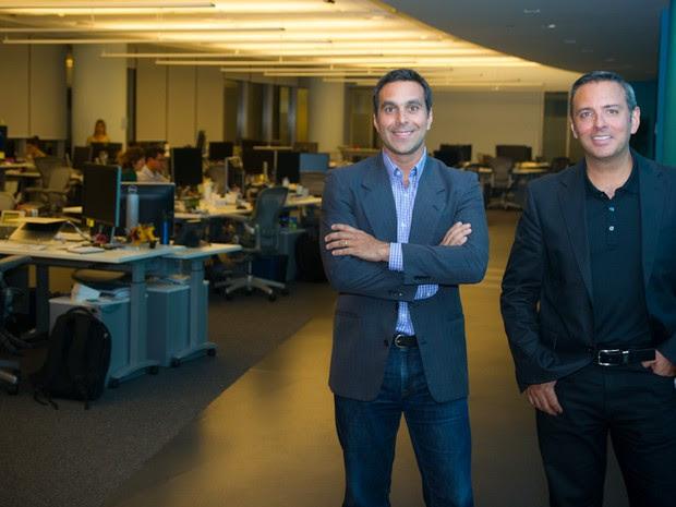 Luciano Tristão, responsável pela operação do Facebook Brasil e Alexandre Hohagen, responsável pela operação do Facebook América Latina.   (Foto: Flavio Moraes/G1)