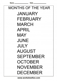 Spelling Months Of The Year Free Printable Worksheets Worksheetfun