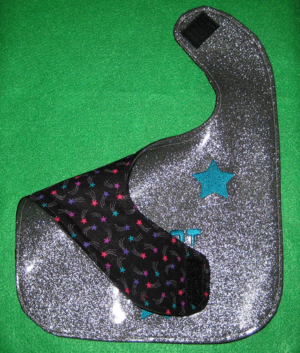glitter vinyl bib backing