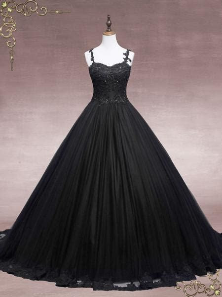 Black Lace Ball Gown Wedding Dress   Faith ? ieie