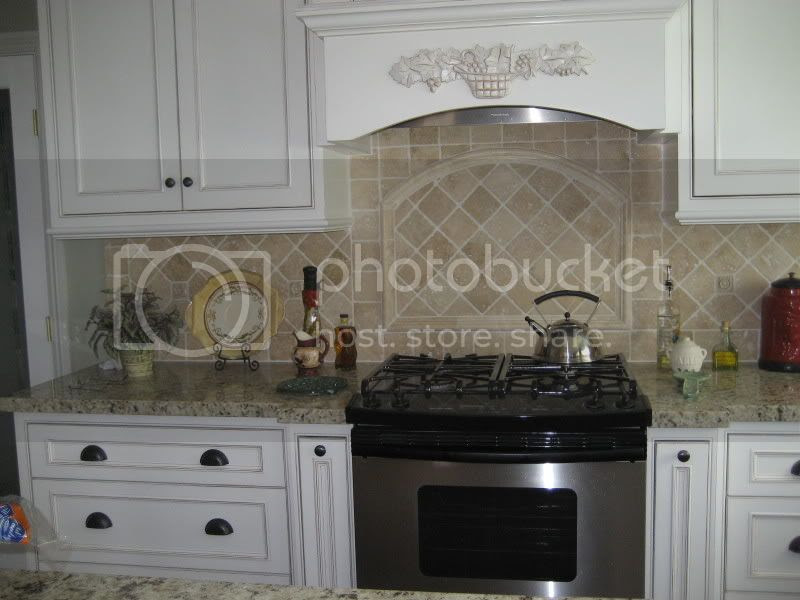 Backsplash tiles with Giallo Ornamental - diagonal or straight ...