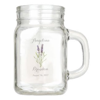 Vintage Lavender for weddings Mason Jar