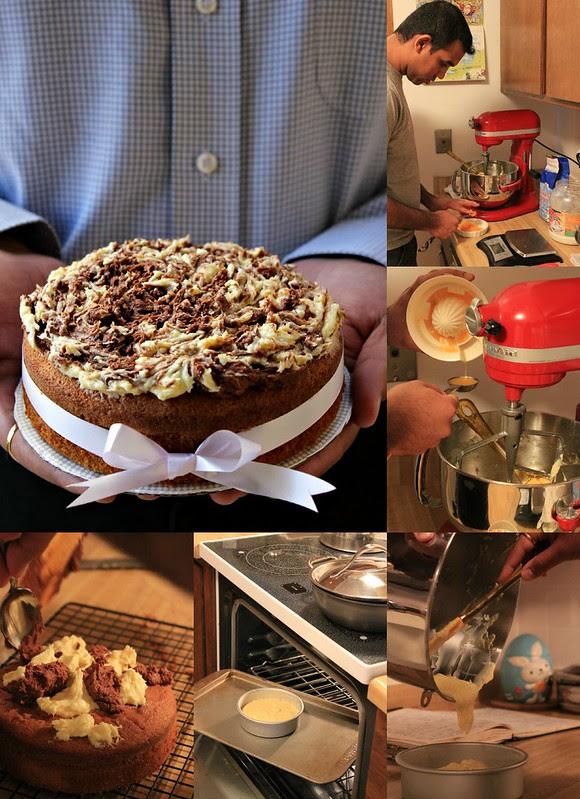 Orange Cake Making