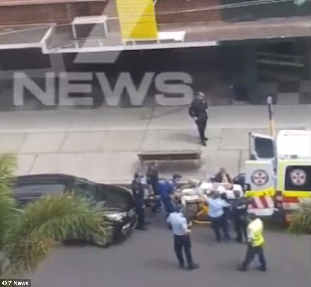 The senior officer was rushed to hospital for emergency surgery and is in a critical condition