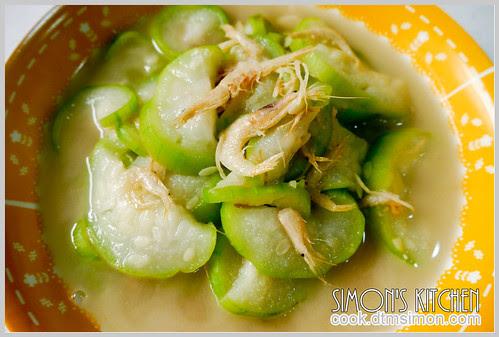 白蝦乾炒絲瓜10