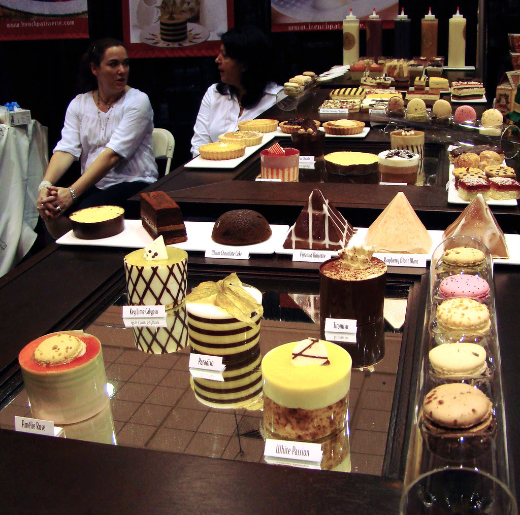 The French Patisserie Desserts display