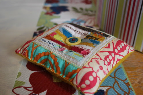 scrappy patchwork pin cushion #4