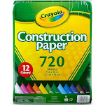Crayola Bulk Construction Paper, 12 Assorted Colors (720 Count)