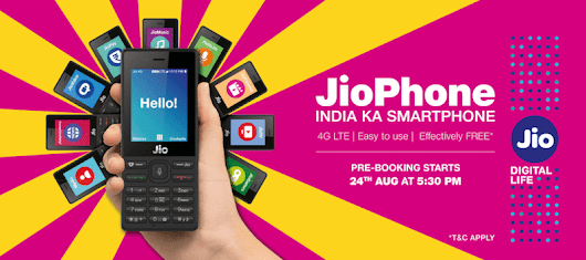 Here's how to pre-book - JioPhone booking starts today at 5:30 PM | Review It Nerd