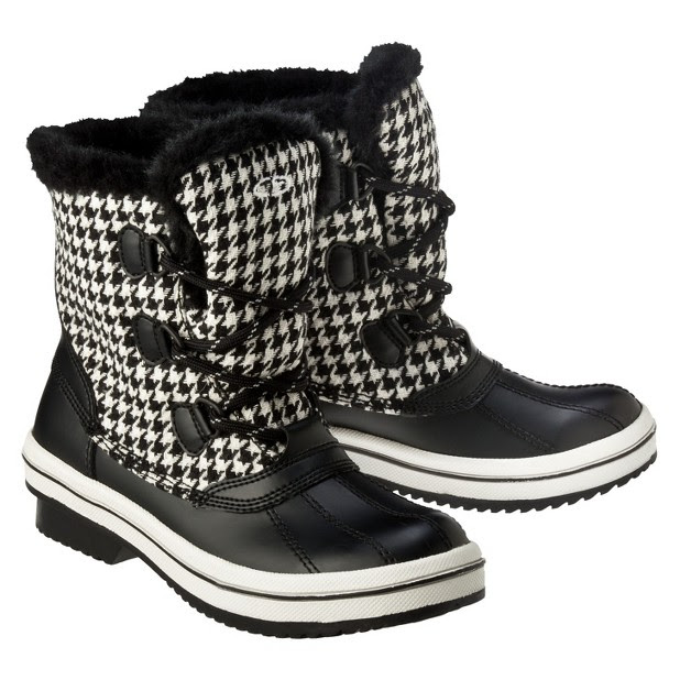 Women's C9 by Champion#amp##174; NIR Fur Trimmed Lace Up Winter Boots - Black. Additional View 3