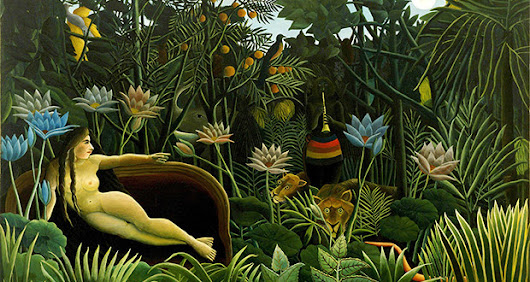 Henri Rousseau docks in Venice lagoon with Archaic candour.