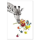 Tree-Free Greetings Checking in Giraffe ECOnotes Blank Note Cards-FS56865