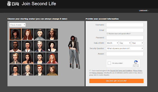 New Second Life Join Page Goes Live
