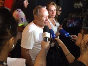 Stênio Garcia ressaltou durante entrevista do o jeito brincalhão de Wilker (Foto: Flávia Rodrigues/G1)