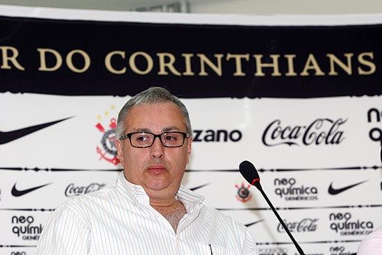 O presidente interino do Corinthians, Roberto de Andrade