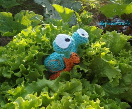 escargot crocheté