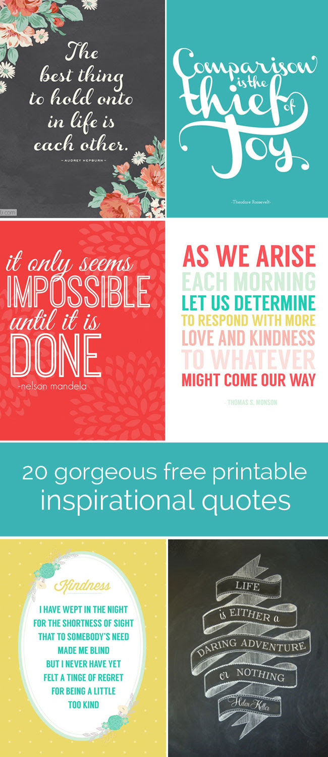 Free Daily Inspirational Quotes Printable