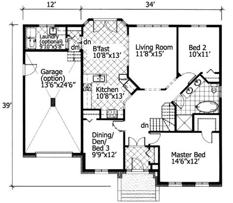 universal access small house plan pd st floor