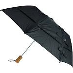 GustBuster Metro Solid Color Auto Open Vented Compact Umbrella - Black