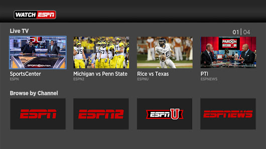 Sports Channels on Roku Streaming Device