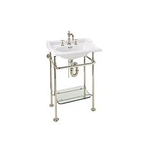 Rohl RW2231APC Wash Stand with Glass Shelf, Polished Chrome ...