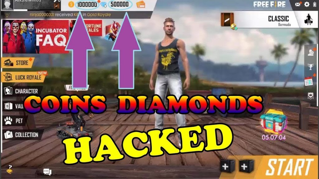 Garena Free Fire Hack Unlimited Diamonds Cheat - GARENA FREE ... -