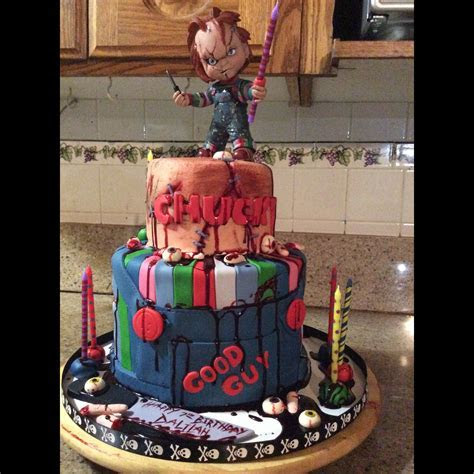 Chucky cake   Horror Movie Cakes   Pinterest   Chucky
