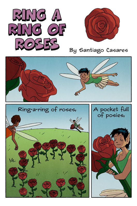 Nursery Rhymes Comics — Ring-a-ring of roses, a pocket full of posies,...
