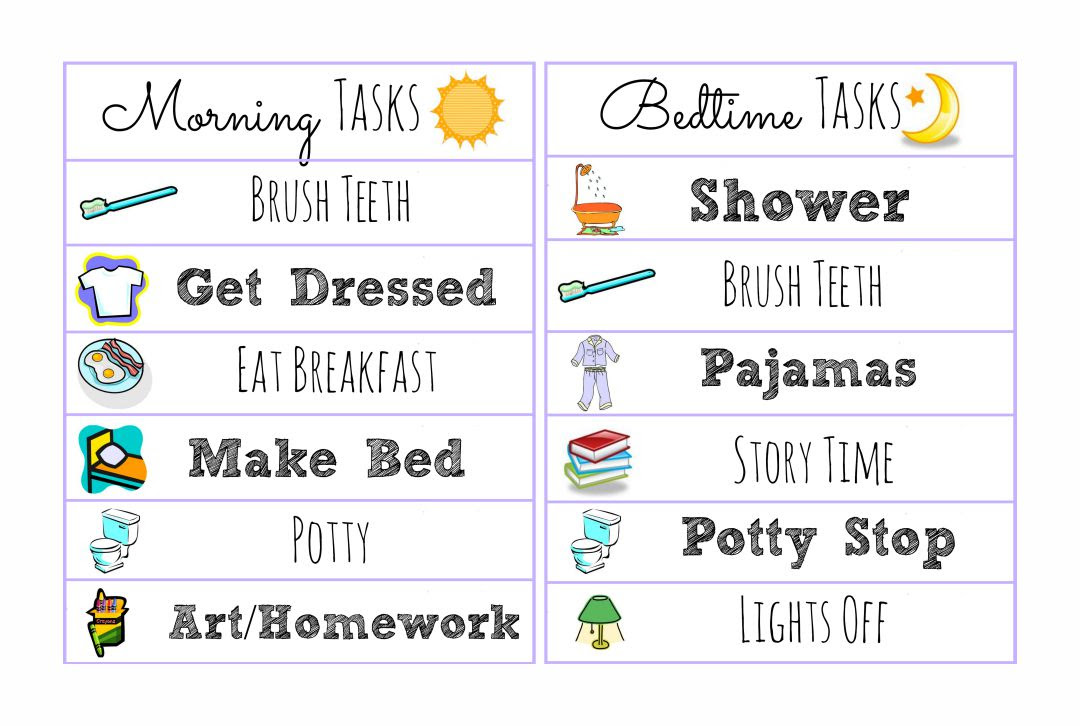 Printable Daily Schedule Kids | Daily Planner