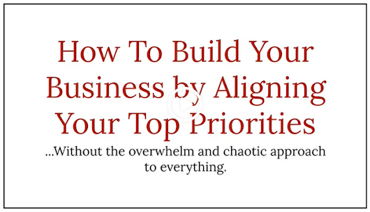 Alignining Your Business Priorities - Strategic Business Academy