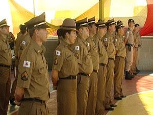Batalão de Bom Despacho comemora 83 anos com homenagens (Foto: Reprodução/TV Integração)