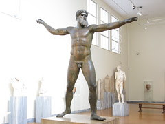 Zeus of Artemision, copper (ca. 460 B.C.)