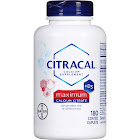 Citracal Maximum Calcium Citrate Formula + D3 Supplement, Coated Caplets - 180 count