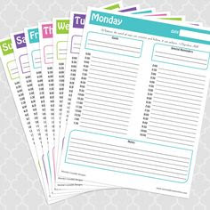 Daily Agenda With Times   Daily Planner