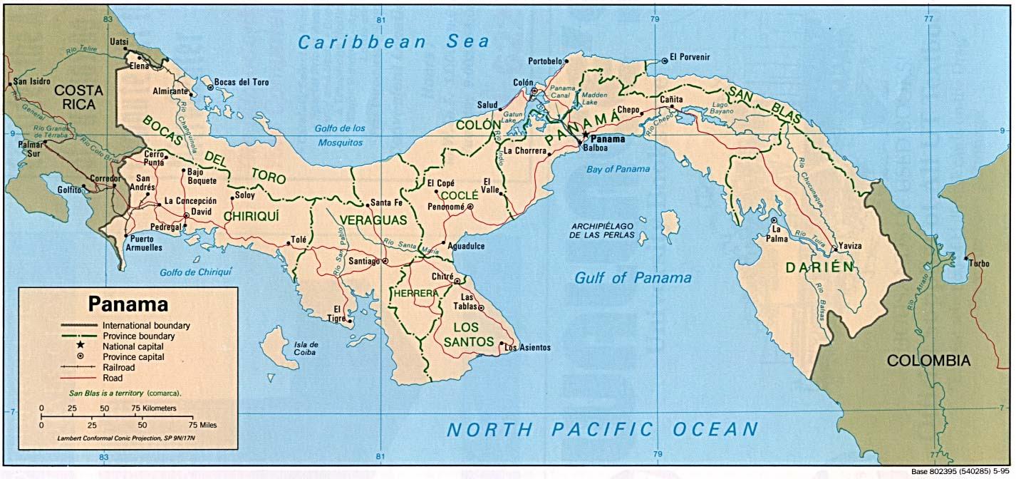 Resultado de imagen de Panama mapa