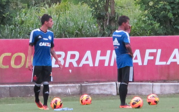 Pablo e Marquinhos Flamengo (Foto: Richard Souza)