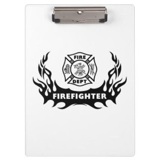 Firefighter Tattoo Clipboard