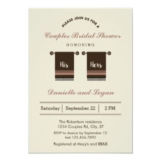 His and Hers Bridal Shower Invitation