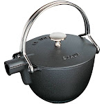 Staub Cast Iron 1-qt Round Tea Kettle - Matte Black