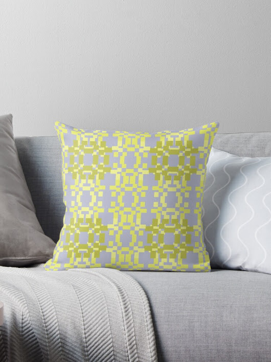 'Modern Square Design 1' Throw Pillow by cozysweet