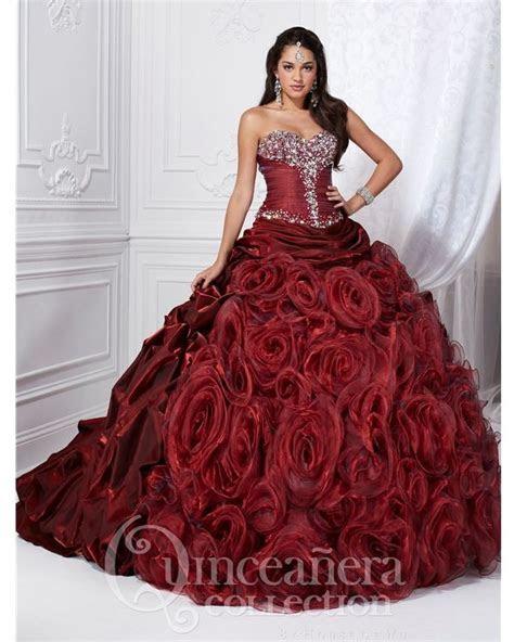 Maroon Dress   Quinceñera Dresses   Cotillion dresses