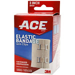 ACE Brand Elastic Bandage w/clips 207314, 3 in