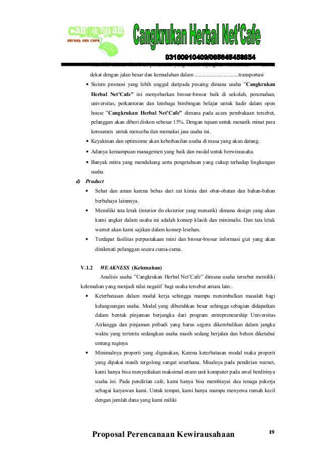 Contoh Proposal Usaha Cafe Kopi Pdf - Barisan Contoh