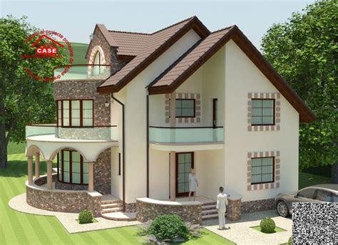 case cu balcon rotund  design expresiv