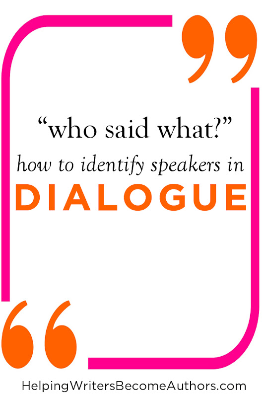 Who Said What? - Identifying Dialogue Speakers - Helping Writers Become Authors
