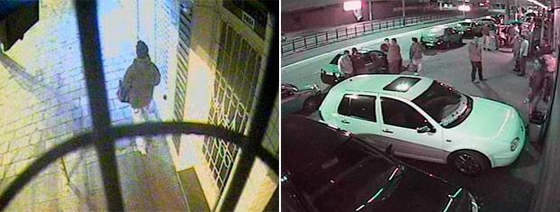 Câmeras de segurança suspeito de matar taxistas RS (Foto: Polícia Civil/Divulgação)