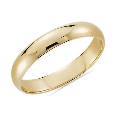 Classic Wedding Ring in 14k Yellow Gold (4mm)   Blue Nile