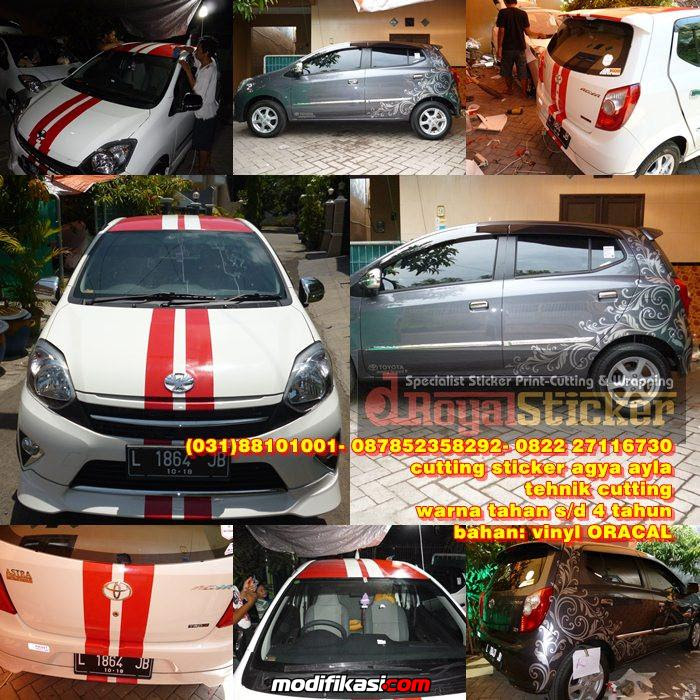 STICKER MOBIL AGYA - AYLA DOMINATOR RACING | King Sticker bali